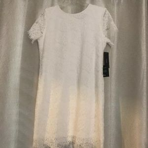 Lulu's White Lace Dress NWT Medium